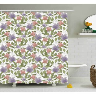 Burnes Pastel Tulip Flowers Single Shower Curtain
