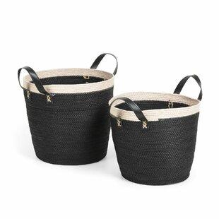 2 Piece Basket Set By Beachcrest Home