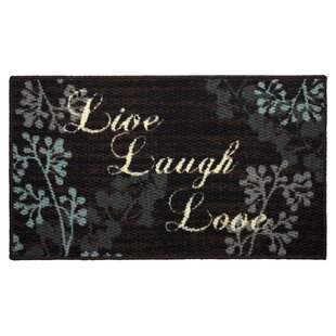 Textured Loop Live Laugh Love Kitchen Area Rug by Structures