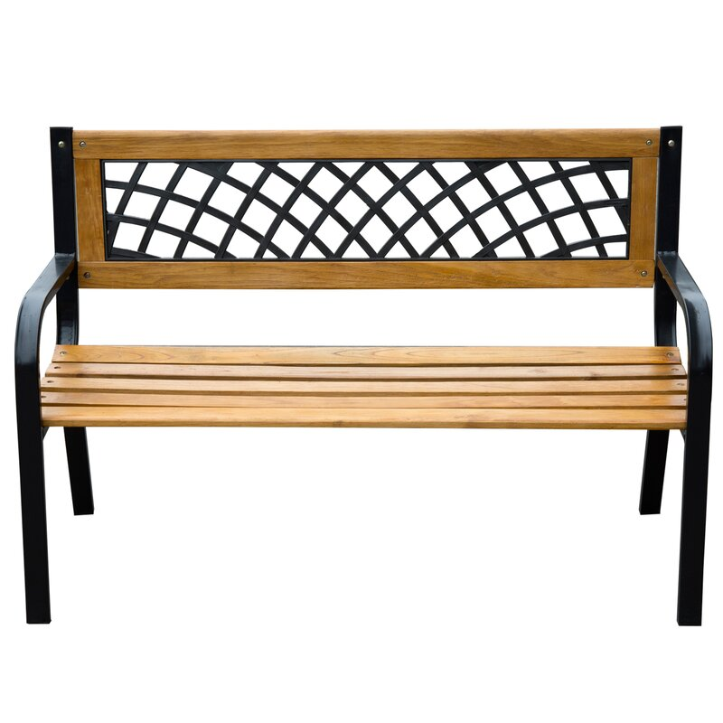 Godfrey Modern Wood Metal Park Bench