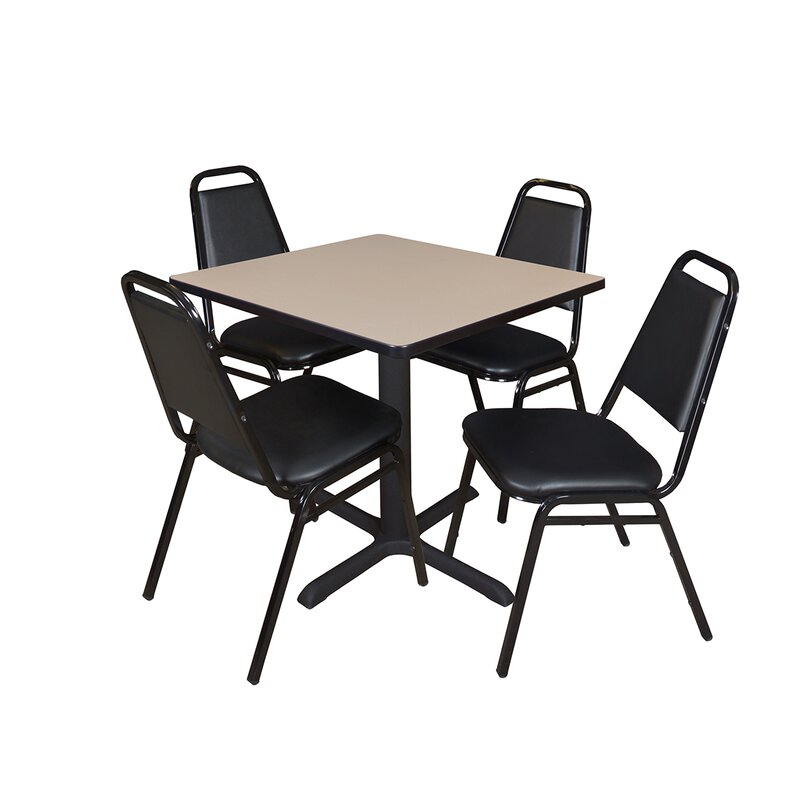 Symple Stuff Hendrix 5 Piece 30 Square Breakroom Table And Chair