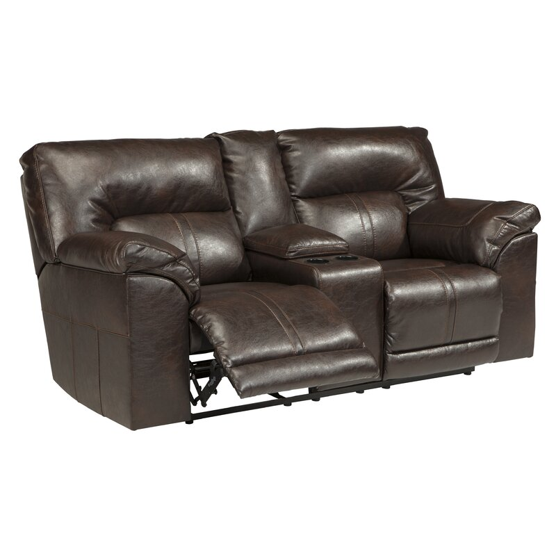 Double Console Reclining Sofa