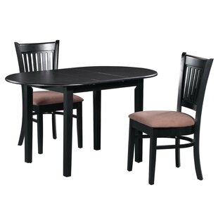 Forsyth 3 Piece Extendable Solid Wood Dining Set 2019 Coupon