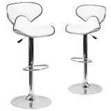Preston Swivel Adjustable Height Stool (Set of 2) by Wrought Studio™