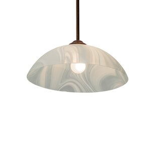 World Menagerie Raasch Blanco Swirl 1-Light Dome Pendant