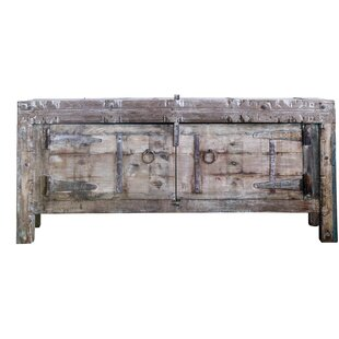 Gracie Oaks Mansour Wood and Metal 2 Door Accent Cabinet