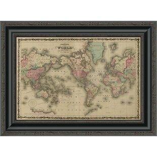 World map framed art youll love wayfair world map framed print gumiabroncs Gallery