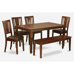Capri 6 Piece Dining Set by Wooden Import..