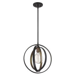 Brayden Studio Viviano 1-Light Globe Pendant