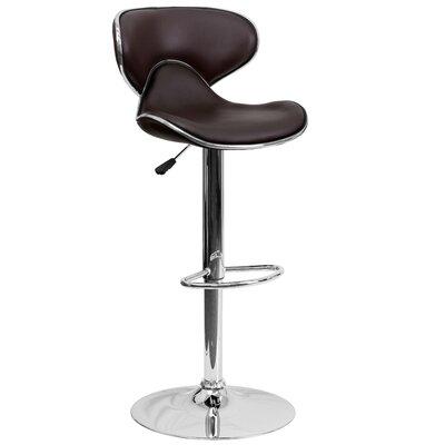 Modern Brown Pedestal Bar Counter Stools Allmodern