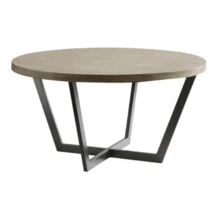 Reimers Slanted Metal and Wood Coffee Table