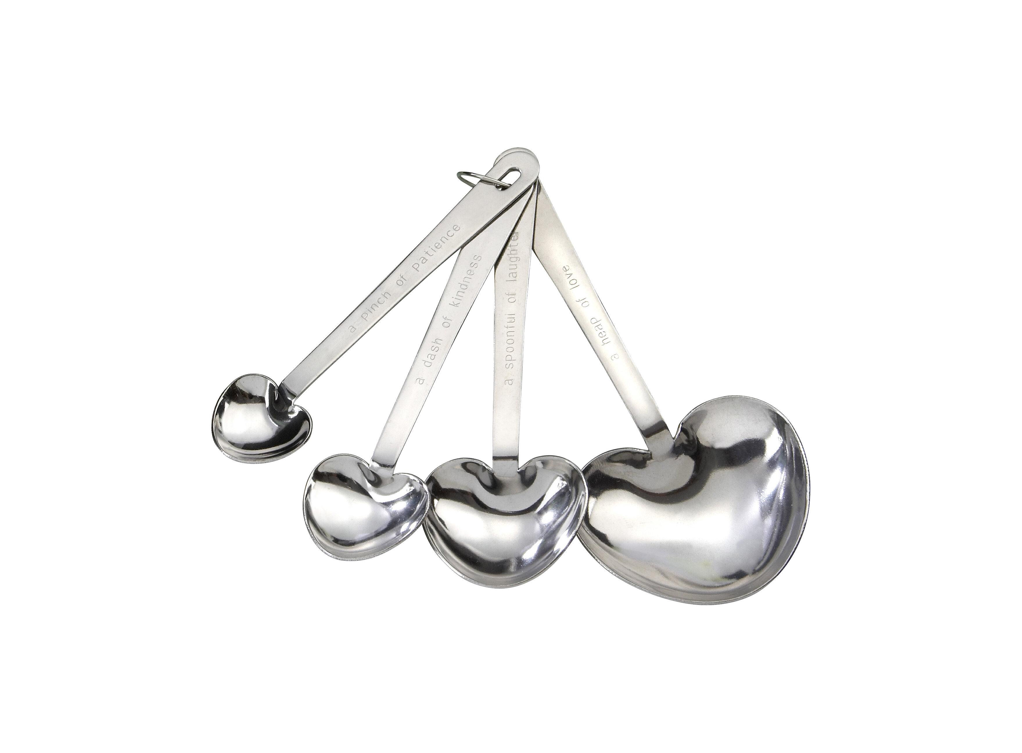 Kate Aspen \'\'Love Beyond Measure\'\' 4-Piece Stainless Steel Measuring ...