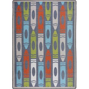 Hand-Tufled Blue/Red Area Rug ByThe Conestoga Trading Co.