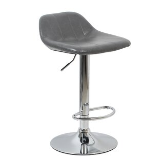Karyl Height Adjustable Bar Stool (Set Of 2) By 17 Stories