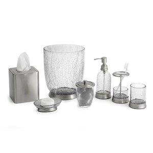 Heirloom Crackle 7 Piece Bathroom Accessory Set