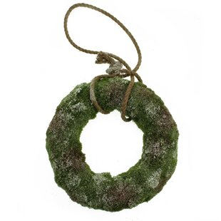 Artificial Hanging Snowy Moss 30cm Christmas Wreath By The Seasonal Aisle