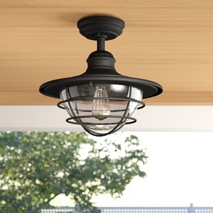 Dardel LED Outdoor Semi Flush Mount