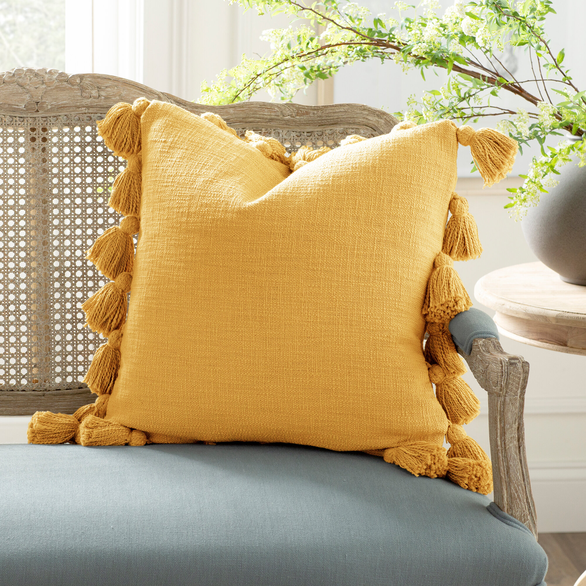 Green Yellow And Gold Throw Pillows Free Shipping Over 35 Wayfair