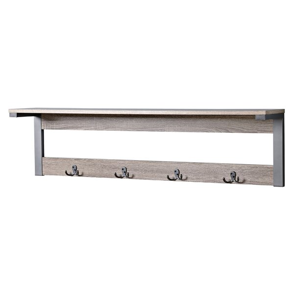 Junien 1 Shelf 4 Hook Entryway Wall Mounted Coat Rack Reviews Allmodern