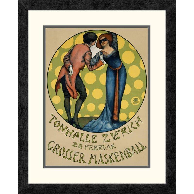 Global Gallery Tonhalle Zurich Maskenball By Sigmund Righini Framed Vintage Advertisement Wayfair