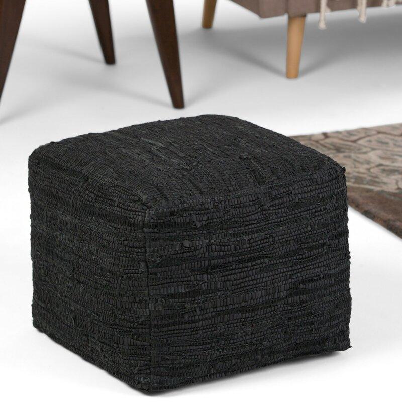 Fredrik Pouf By Simpli Home Buy Clear Ottomans