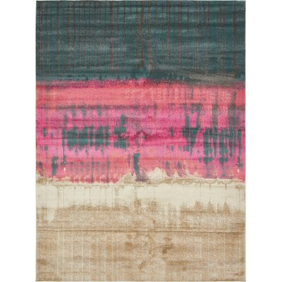 Wrought Studio Wynn Traditional Pink Area Rug Rug Size: Rectangle 10' x 13'
