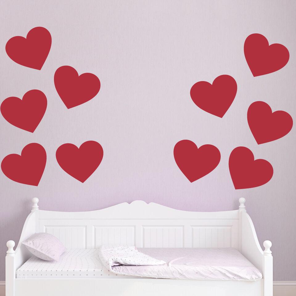 Wallums Wall Decor Giant Hearts