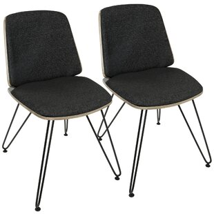 Callendale Mid-Century Modern Upholstered Dining Chair (Set of 2)