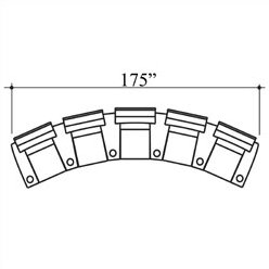 Bass Showtime Home Theater Lounger (Row of 5)