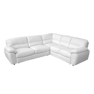 Cleona Leather Sleeper Sectional