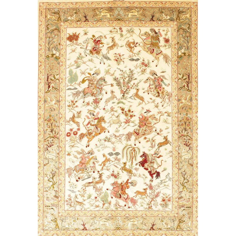Bloomsbury Market Kamana Traditional Tan Yellow Ivory Area Rug Wayfair