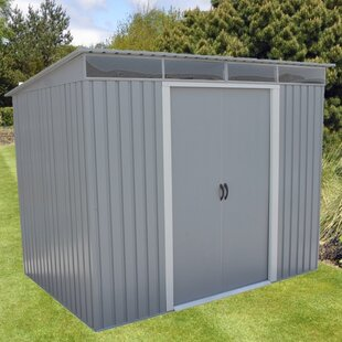 8.5 Ft. W X 6 Ft. D Metal Storage Shed By Duramax Building Products