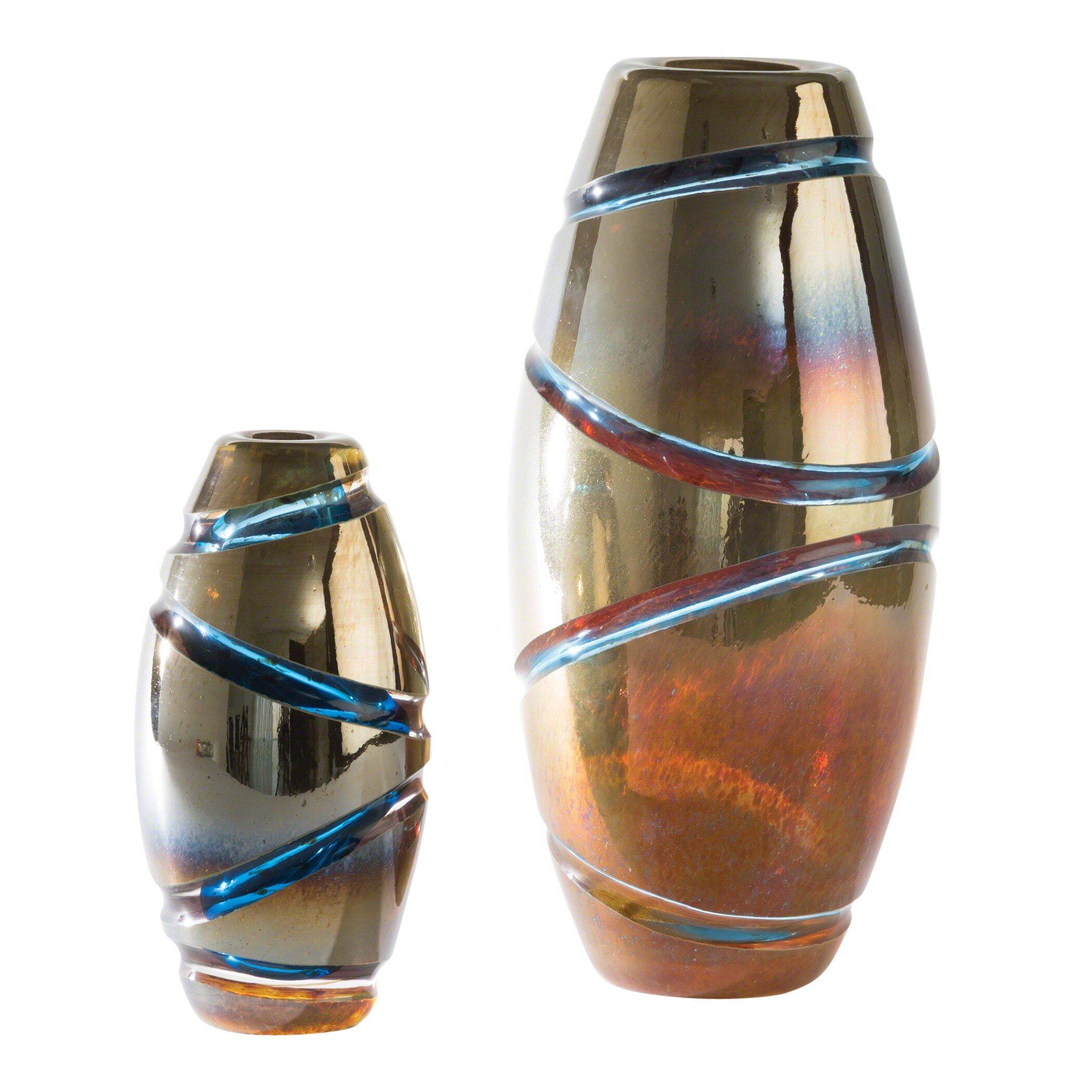 Global Views Brown Glass Table Vase Wayfair