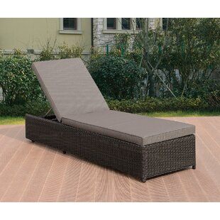 Rosecliff Heights Durst Reclining Chaise Lounge with Cushion