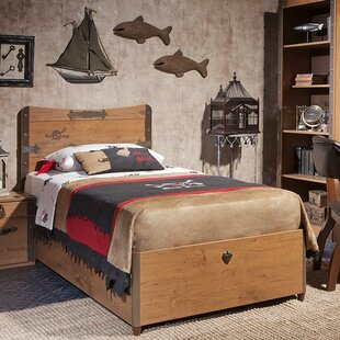 Black Pirate Twin Captain Bed with Storage