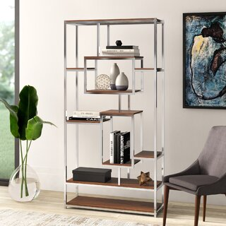 Agatha Geometric Bookcase by Mercury Row SKU:DB541306 Guide