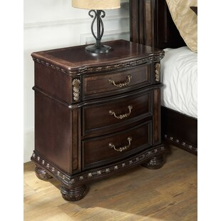 Affordable Pinehur 3 Drawer Nightstand by Astoria Grand