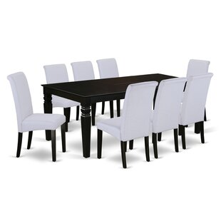 Park Avenue Table 9 Piece Extendable Solid Wood Dining Set Charlton Home