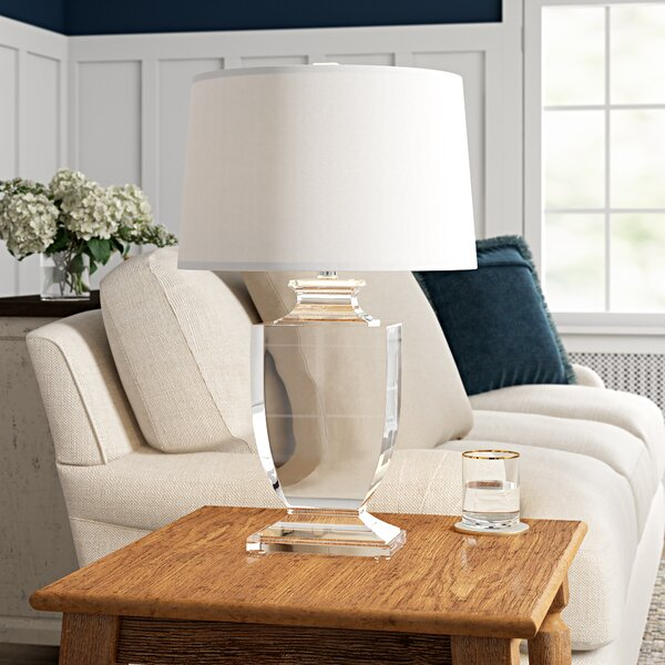 Birch Lane Maines 26 Clear Table Lamp Reviews Wayfair