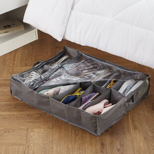 Check Prices College Shoe Holder Fabric Underbed Storage By Rebrilliant