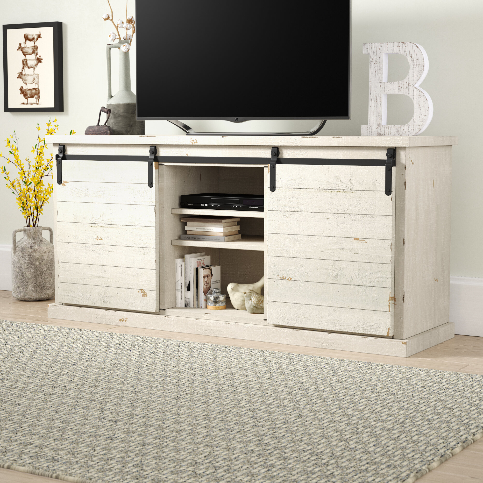 Gracie Oaks Laursen Solid Wood Tv Stand For Tvs Up To 60 Inches Reviews Wayfair Ca