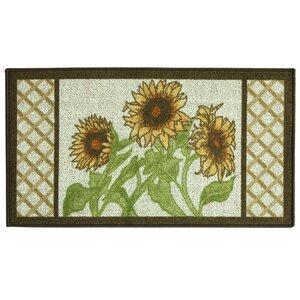 Classic Berber Sunflower Frame Mat