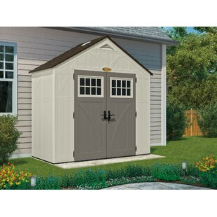 Outdoor Vanilla Plastic Storage Shed By Suncast