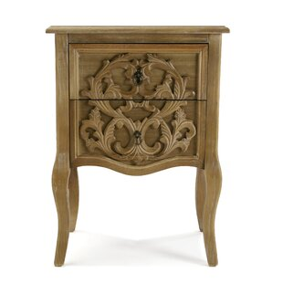 Dinsmore 2 Drawer Bedside Table By Astoria Grand