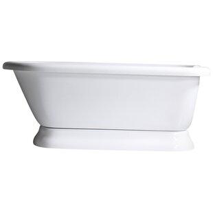 Baths of Distinction Hotel Acrylic Classic Freestanding Soaking Bathtub