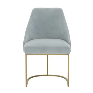 Lavaca Velvet Upholstered Dining Chair (S..