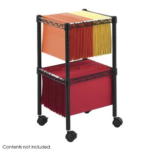 Wire 2 Tier Mobile Filing Cart With Shelves By Symple Stuff