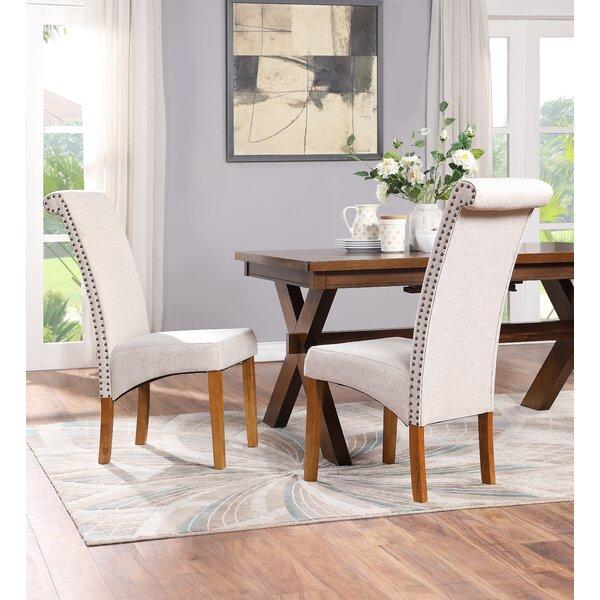 Red Barrel Studio Anzaldua Tufted Linen Upholstered Parsons Chair In Beige Wayfair