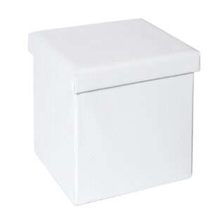 Ralph Quilted Fold-able Storage Ottoman by Rebrilliant
