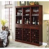 Ebro Wooden 90 Bottle Floor Wine Rack by Darby Home Co